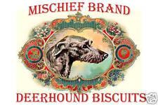 Mischief Brand Scottish Deerhound Biscuit Tin & Cookies