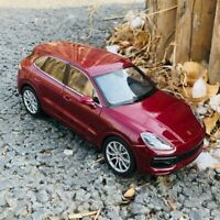 WELLY 1:24 Scale Porsche Cayenne Turbo SUV Red Diecast Alloy Car Model Toys