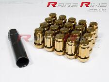 Gold Spline Wheel Nuts x 20 12x1.5 Fits Mazda Mx3 Mx5 Mx6 Rx7 RX8 3 6 5 MPS