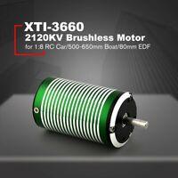 X-TEAM XTI-3660 2120KV Brushless Motor for 1:8 RC Car/500-650mm Boat/80mm EDF