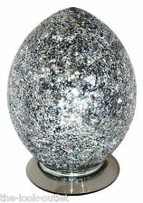 Mosaic Medium Egg Lamp - BLACK Bedroom/Table Light Mood Lighting