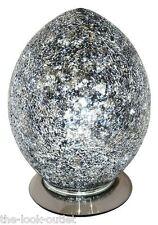 Mosaic Medium Egg Lamp - BLACK Bedroom/Table Light Mood Lighting