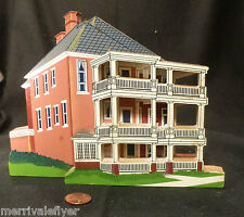 Wood House Model MARGARET MITCHELL Gone With the Wind Hand Painted FOLK ART