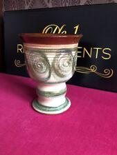"Denby / Langley Vase Goblet Stoneware Eric Glyn Colledge 50s 7.8"" High"
