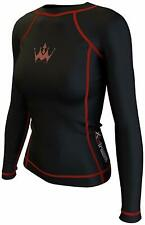 Crown Gear Xstream Women Long Sleeve Rash Guards Shirt # SMALL