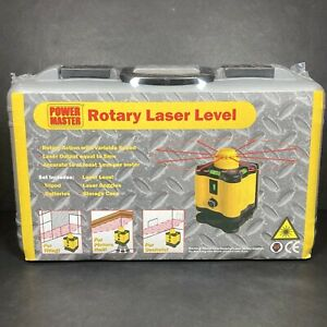 Power Master Rotary Laser Level DIY Measuring Tool With Tripod NEW