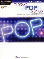 Classic Pop Songs Play-Along Clarinet Klarinette Noten mit Download Code