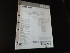 Original Service Manual Schaltplan   Sony XR-7301