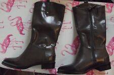 Womens Size 2 (EUR 32.5) BROWN PENNY BOOTS