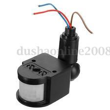 New LED Outdoor Infrared PIR Motion Sensor Detector Wall Light Switch 180° 12M
