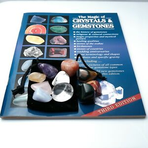 The Magic Of Crystals & Gemstones Book With 10 Popular Crystals Chakra Gift Set