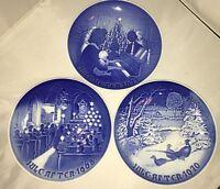 3 Bing Grondahl Christmas collector plates 1968 1970 1971 B&G