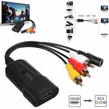HDMI zu Cinch Kabel HDMI zu AV CVBS Adapterkabel für Composite Kabel mit USB 3D