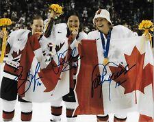 Auto. Jayna Hefford  Vicky Sunohara Lori Dupuis Team Canada Womens Hockey 8x10