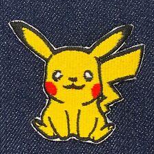 "Pikachu Pokemon Iron On Embroidered Patch Free Shipping 2"" X 2.5"""