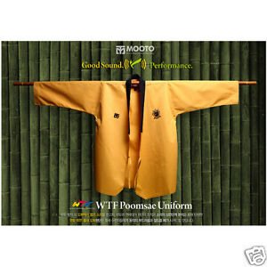 Mooto Kukkiwon Taekwondo High Dan Poomsae Uniform Dobok Gi TKD WTF Approved New