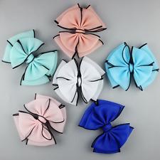 12pcs Mixed colors Chiffon Bow  Large Bows DIY shoes supplies Hair Accessories