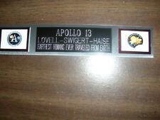 APOLLO 13 (NASA) ENGRAVED NAMEPLATE FOR PHOTO/DISPLAY