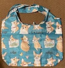I Luv Corgi Dog 💕 Reusable Foldable Shopping Tote Bag Free Ship New Puppy