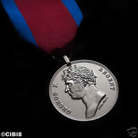 WATERLOO MEDAL FULL SIZE COPY BRITISH ARMY 1815 MILITARY AWARD GRENADIER SERVICE