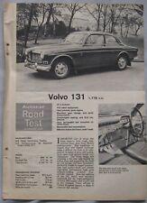 1965 Volvo 131 saloon Original Autocar magazine Road test