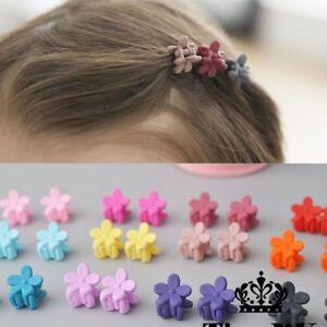 Girls Hair Claw Headwear Jaw Flower 10pcs Fashion Baby Small Cute Candy Color
