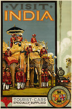 INDIA 1928 Vintage Travel ADVERTISING Reproduction Canvas Print 20x30