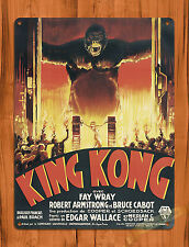 Tin Sign King Kong Flames Monster Retro Movie Art Poster