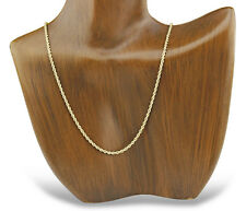 2.0 Wide Rope Chain 14k SOLID Yellow Gold 20 in Long