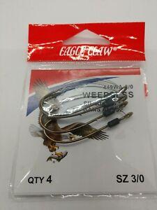 Eagle Claw Weedless Baitholder Hooks 1 Pack Size 2//0 5pcs