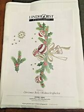 "Lindhorst Tablecloth / Napkins CHRISTMAS BELLS ~ You do Embroidery - 60"" X 104"