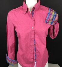 Robert Graham Women's 6 Paisley Shirt Long Sleeve Button Down Flip Cuff (D43)