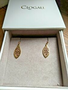 Clogau Gold, 9ct Yellow & Rose Gold Queen Eleanor Drop Earrings