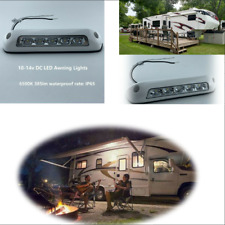 Waterproof 6500K White 12V LED Exterior Camping Bar Caravan Lamps Clear PC Lens