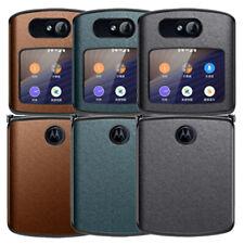 Motorola Razr 5G Leather Case Hard Cover Ultra Slim Shockproof Back Shell Skin