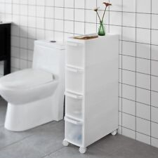 SoBuy® 4 Drawers Slide Out Kitchen Cabinet, Bathroom Rack, Tower, FRG41-W,UK