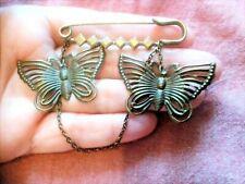 Kitsch Retro Vintage Fun & Funky Butterfly Kilt Pin Charm Brooch.Quirky Boho