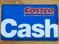 Costco Cash Card Gift Card $0 Zero Balance