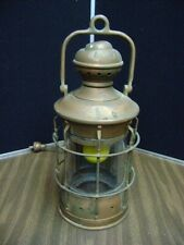 Antique Brass Perkins Marine Oil Ship Lamp Lantern Converted to electric