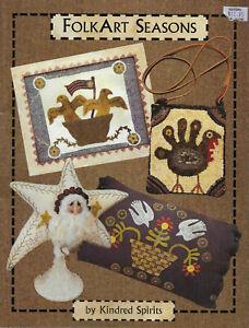 "Kindred Spirits' ""Folk Art Seasons""  -  18 Projects"