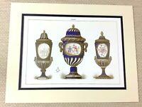 1988 Stampa 18th Secolo Ornamentale Urne Cina Antico Francese Sevres Porcellana