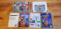 Mario Kart 64 Nintendo 64 N64 Cart Video Game Complete CIB Manual Box lot TESTED