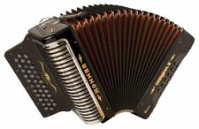 Hohner Corona Xtreme II Accordion, 34 Button, EAD, Black with Back Pad, Gig Bag