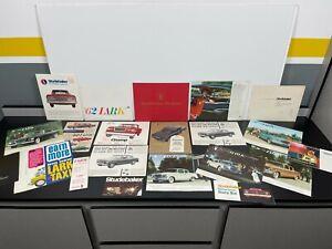Lot Vintage Original 1960s STUDEBAKER Automobile CAR SALES BROCHURES Catalogs