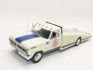 1:18 1970 Ford F350 Ramp Truck SHELBY COBRA Diecast Car Hauler Carrier