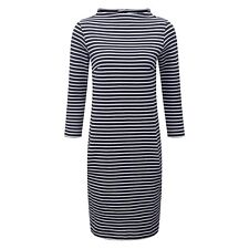 BNWT Pure Collection Striped Cotton Tunic - Navy/White - Size 14 RRP £99