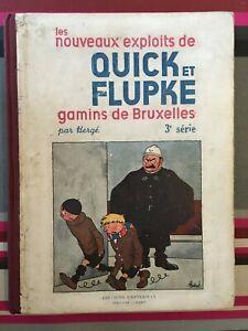 quick et flupke - hergé - noir et blanc - 3ème série - A10 - 1940 - rare