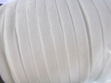 """5 yards Elastic Stretch 3/8"""" Velvet Ribbon 9mm/Craft/Sewing Trim/Lace T206-White"""