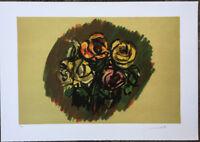 ENNIO MORLOTTI litografia ROSE  50x35 firmata numerata LA SPIRALE 1987
