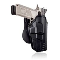 OWB Polymer paddle , retention holster for  CZ P07, CZ P09 Pistols. Right Handed